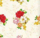 Floral Collection 5096 Kırmızı Gül Desenli Duvar Kağıdı