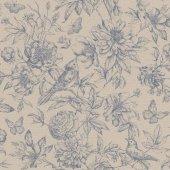 Florentine Iı 449471 İthal Çiçek Desenli Duvar Kağıdı