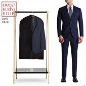 10 Adet Fermuarlı Takım Elbise Kılıfı Koruyucu 100x60cm