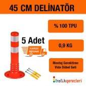 Esnek Şerit Ayırıcı Delinatör 45 Cm (5 Adet)