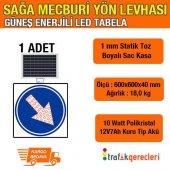 Sağa Mecburi Yön Levhası 600x600mm Led (1 Adet)
