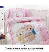özdilek Kız Bebek Uyku Seti Little Bear 8 Parça , Özdilek Pamuk Bebek Yastığı Hediyeli