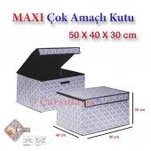 Anka Maxi Çok Amaçlı Katlanabilir Kutu Hurç 50x40x30cm