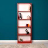 Adore Modern 5 Raflı Kitaplık Kırmızı