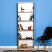 Adore Max 5 Raflı Kitaplık Sonoma