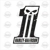 Harley Sticker Kurukafa Skull 1 14018