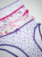 6 Adet Modatime Kız Çocuk Slip Külot 100 Pamuk