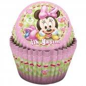 24 İlk Yaşım Minnie Mouse Muffin Kek Kalıbı Mini Maus Kek Kalıbı