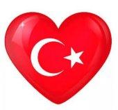 23 Nisan 10 Adet Türk Bayrağı Folyo Balon Kalp Folyo Türk Bayrak