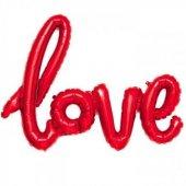 Helyum Uyumsuz Kırmızı Love Folyo Balon Sevgililer Günü 2018