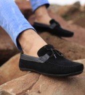 Lfg Deri Detay Kenarlı Süet Siyah Bağcıklı Günlük Ayakkabı