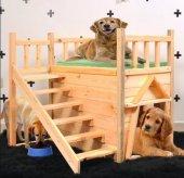 Köpek Kulubesi Köpek Çiti Montessori Merdivenli Balkonlu 100ağaç