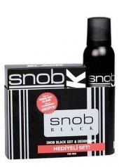 Snob Black Edt 100 Ml + 150 Ml Deodorant Erkek Par...