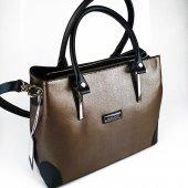 Silver Polo Bakır Renk Askılı Kadın Çantası #1009