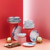 Güral Porselen Reaktif 24 Parça Yemek Takımı