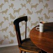 Köpekler Stencil Tasarımı 30 X 30 Cm