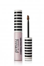 Pretty By Flormar Kaş Maskarası Eyebrow Mascara 01 Light