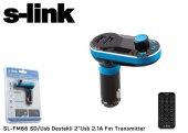 S Lınk Sd Usb Destekli + 2.1a Usb Şarj Portlu Fm Transmitter Sl Fm66