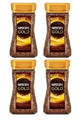 Nescafe Gold 100 Gr Cam Şişe*4 Adet