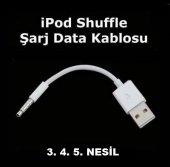 Ipod Shuffle 3. 4. 5. Nesil Data Şarj Kablosu Veri Aktarma Apple