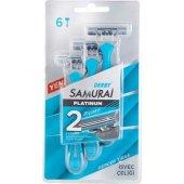 Derby Samurai Platinum 2 Bıçaklı İsveç Çeliği 6lı ...