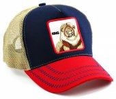 Aslan Şapka King Cap Lacivert Kırmızı Bej Fileli Cp119