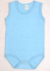 Cantaz Bebek Mavi Çıtçıtlı Body