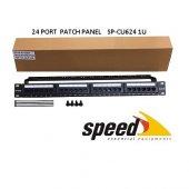 Speed 1u 24port Cat6 Utp Patch Panel + Kablo Düzen Sp Cu624