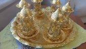 Osmanlı Motifli Çay Seti 6 Lı Tepsili