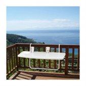 Katlanır Balkon Masası Pratik Balkon Demirine Asılabilen