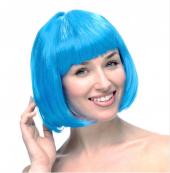 Turkuaz Renk Peruk Küt Saç