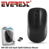 Everest Sm 526 Kablosuz Optik Mouse Siyah