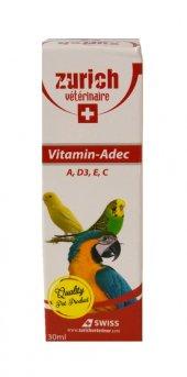Zurich Kuş Vitamini A, D3, E, C Vitaminleri 30 Ml...