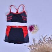 Dagi Kadın İnce Askılı Şortlu Yüzücü Bikini Mayo Mayokini 1009