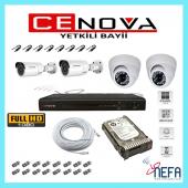 Cenova 4 Lü Ahd Güvenlik Kamera Sistemi 4 Kanal Full Set