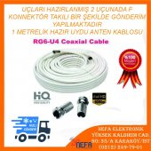 1 Metre Rg6 U4 Uydu Anten Kablosu