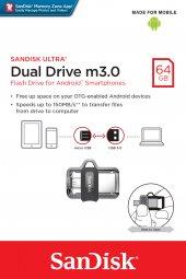 Sandisk Dual Drive M3.0 Otg 64gb Bellek Sddd3 064g G46gw