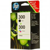 Hp Cn637ee (300) Sıyah Uc Renklı 2 Li Paket Murekkep Kartusları 2