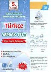 5.sınıf Türkçe Yaprak Test Bulut Yayınları