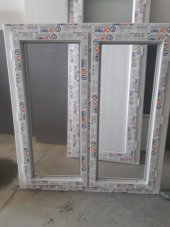 110x110 Tek Cam Çift Kanat Orpen Pencere