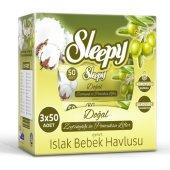 Sleepy Islak Mendil Havlu Zeytinyağlı 3 X 50li (150 Yaprak)