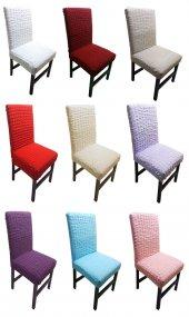 Bürümcük Likralı 1.kalite Sandalye Kılıfı 6'lı 10 Renk Seçeneği