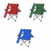 üç Adet Kamp Sandalyesi Mavi Kırmızı Yeşil