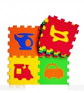 32x32 Cm 9 Parça Taşıtlar Eva Puzzle 2612