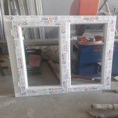 120x120 Orpen Çift Cam Tek Kanat Pencere