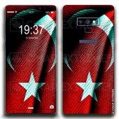 Samsung Carbon Turkish Flag Koruyucu Telefon Kaplamaları Çınar Ex