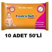 Bebek Islak Mendil Havlu Freshn Soft Alkol Parapen Yok 50x10 500
