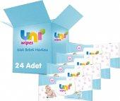 Uni Baby Wipes Islak Bebek Havlu Mendili Kapaklı Fırsat Paket 24x60