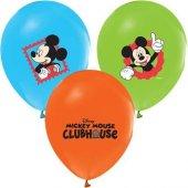 Balonevi Balon Mıckey Baskılı Pastel Renk 4+1 100 Lü