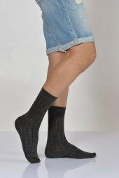Derbili Yün Erkek Soket Çorabı Koyu Gri E Art215